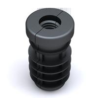 embout filete pour tube rond isc plastic parts. Black Bedroom Furniture Sets. Home Design Ideas